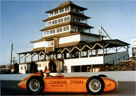 Freddie Agabashian in Indy 500 Cummins turbo diesel