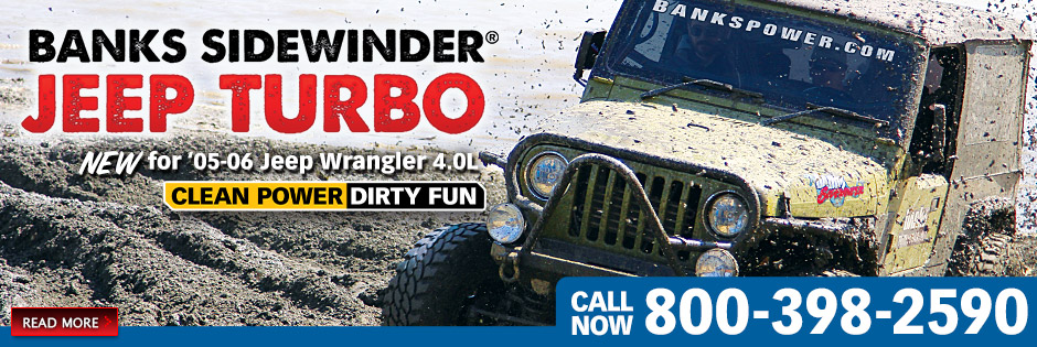 Banks Sidewinder� Jeep Turbo System