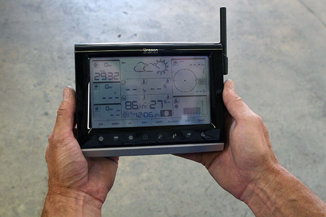hand-held device for density calculation