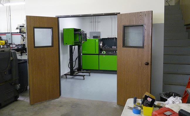new room for injector testing