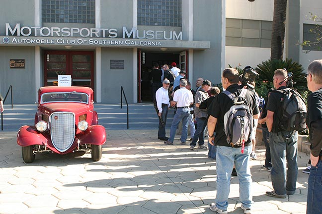 NHRA museum crowed outside