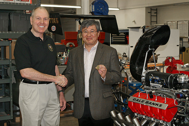 Gale Banks and Mr. Maho Mitsuya (President and CEO of DMAX Ltd.)