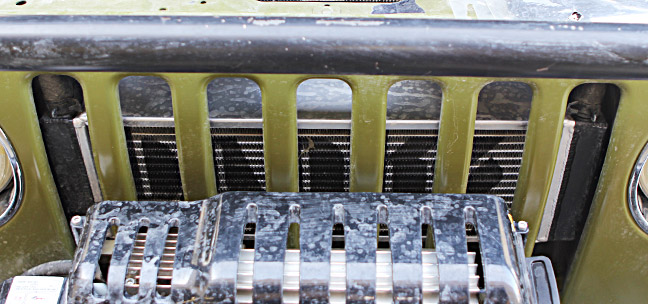 A closer look at the front mounted intercooler