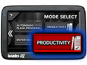 Select the Productivity Mode