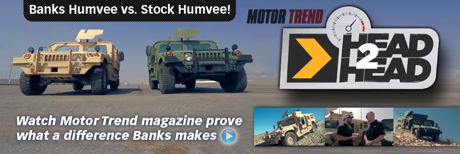 Humvee shootout on Motor Trend