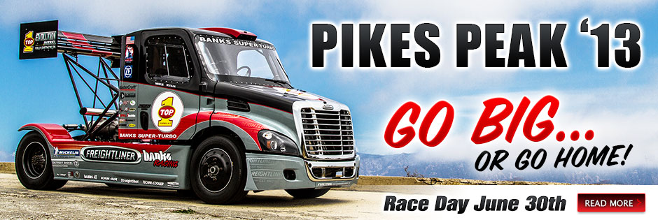Pikes Peak 2013 - Banks Power and Mike Ryan go BIG!