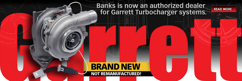 Banks is now an authorized Garrett Turbo dealer