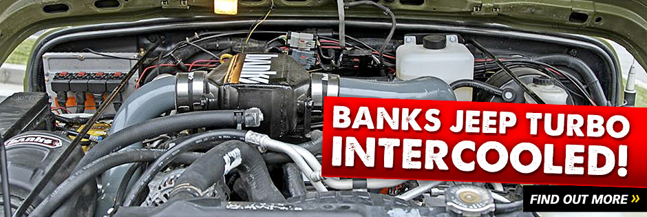 Banks Jeep Turbo is undergoing testing for our new air-to-water intercooler setup