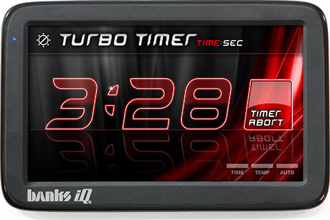 Banks iQ Turbo Timer screen