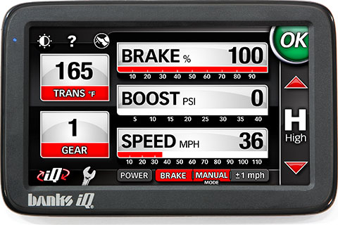 Banks iQ Braking screen