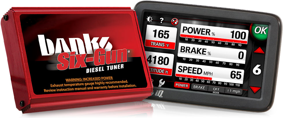Banks iQ works together with the Banks Six-Gun Diesel Tuner
