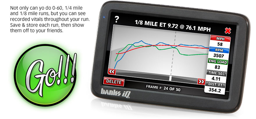 Want to know how well your vehicle is performing? Use the performance mode to test and find out.