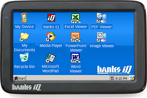 Banks iQ desktop screen