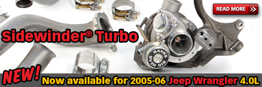 Banks Sidewinder Turbo System for 2005-06 Jeep Wrangler 4.0L