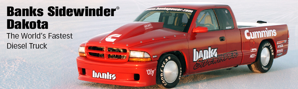 Banks Sidewinder® GMC Sierra - The World's First Roadracing Diesel Truck