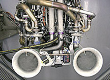 It took an incredible amount of stainless-steel tubing to plumb Banks new twin-turbocharged Duramax LLY V-8. Over 75 hours of dynamometer time has been logged on Banks Duramax racing engine program so far.
