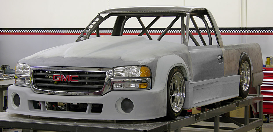 Custom bodywork - You can't buy this at the store! The Banks Sidewinder GMC Sierra is chock full of custom aero-mods!