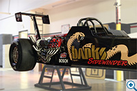 Dragster on a stand