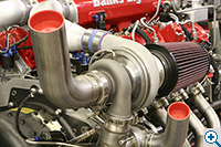 Banks Top Dragster's Twin Turbo Diesel Engine