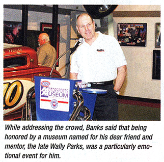 Gale Banks speaks at NHRA museum