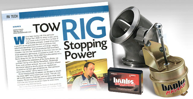 RV magazine reviews Banks Brake