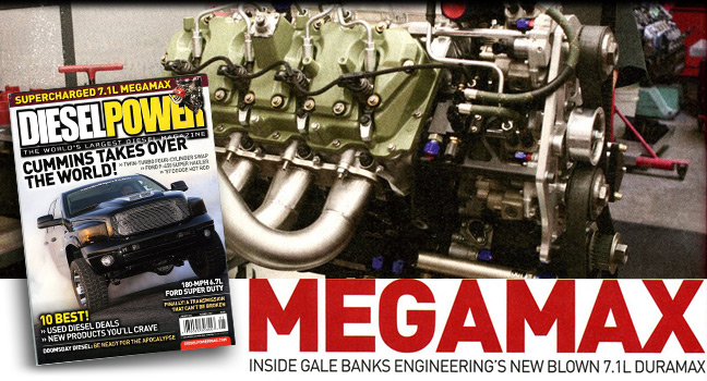 Diesel Power reviews Gale Banks Engineering supercharged Duramax