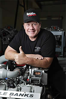 Mike Ryan and Gale Banks Engineering engine