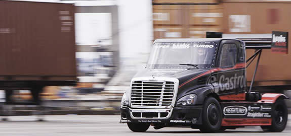 Filming begins on the Banks Power Super-Turbo Freightliner