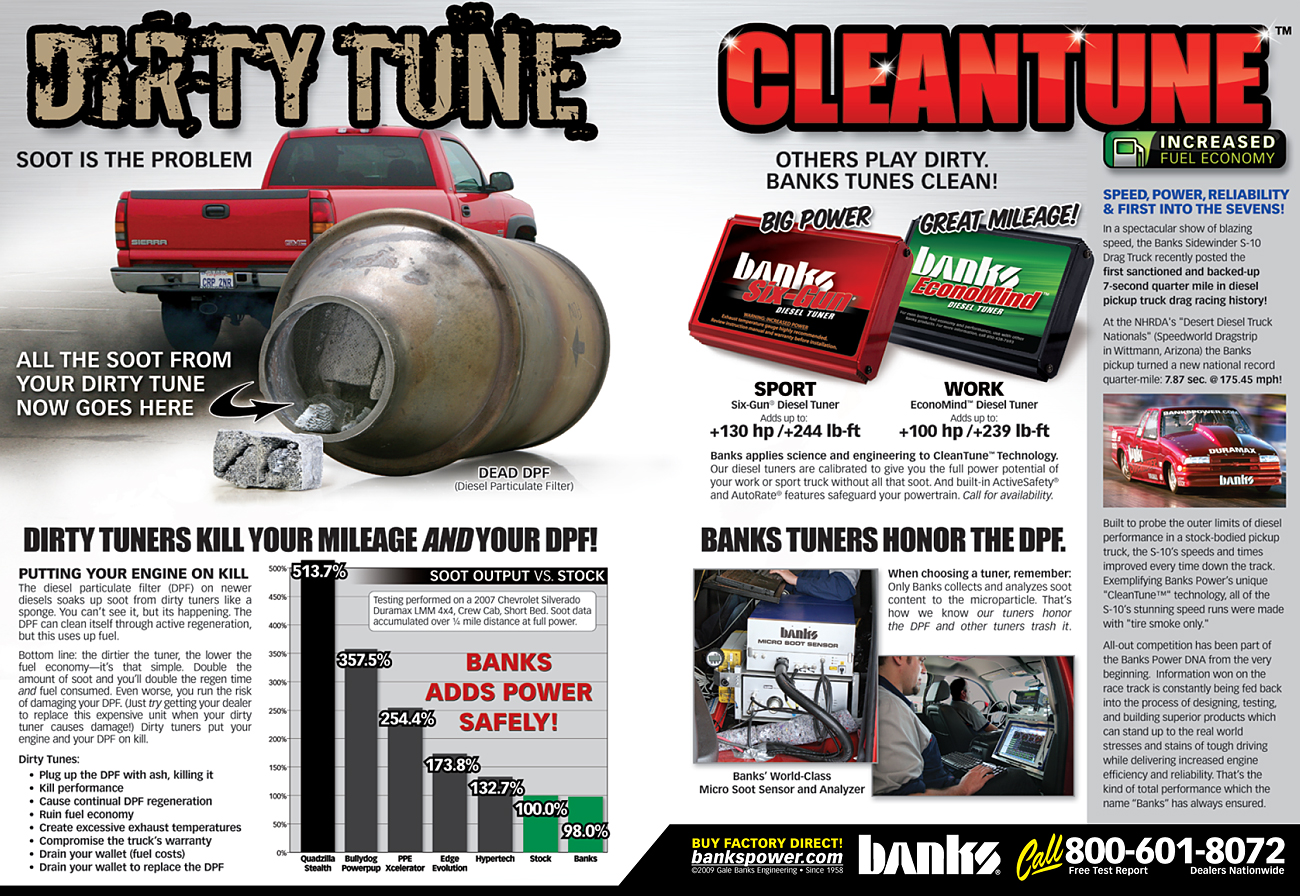 Dirty Tune vs. Clean Tune magazine ad