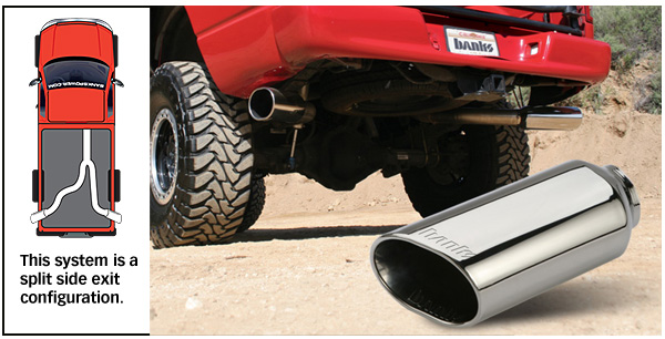 exhaust configuration: split side duals